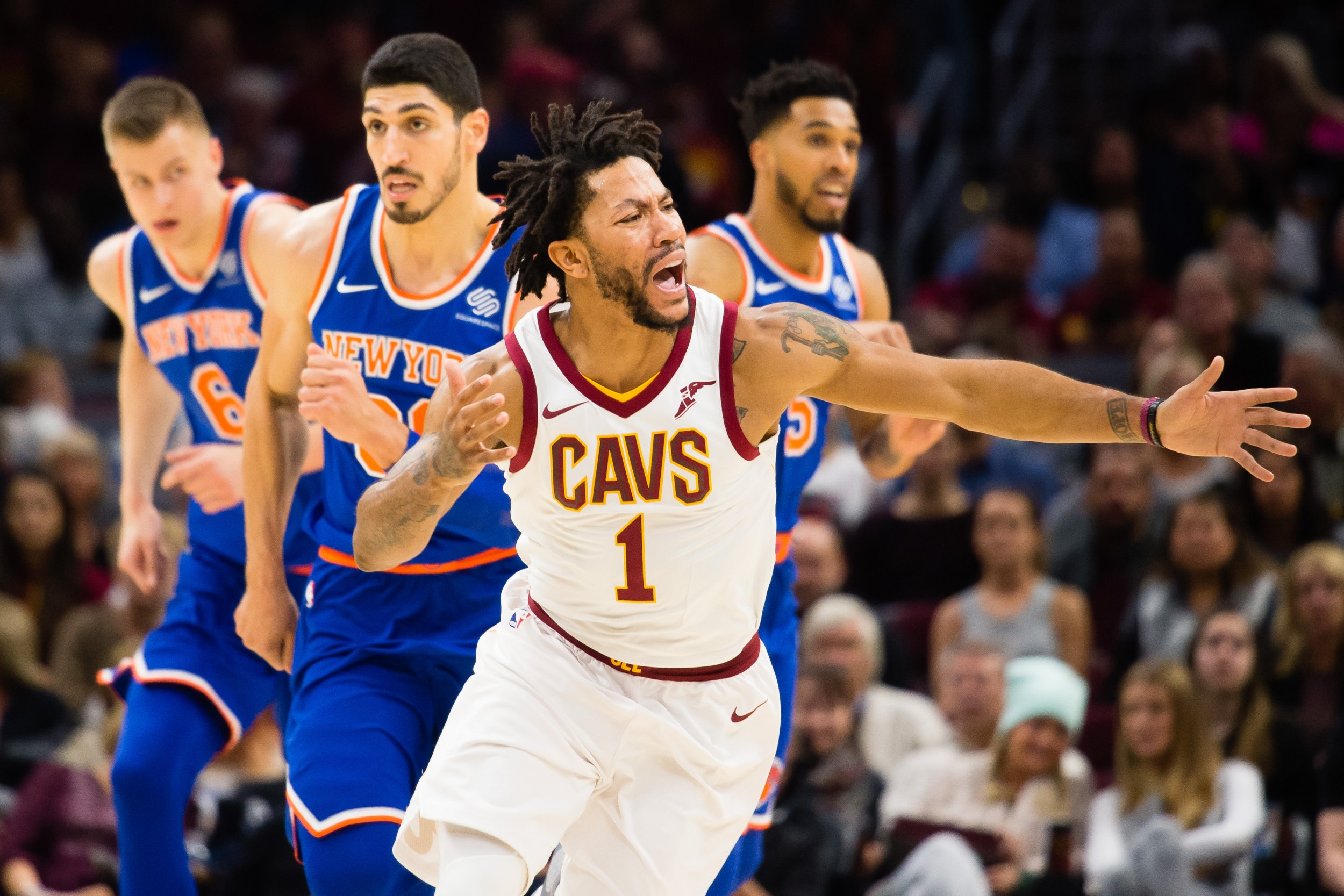 Cleveland Cavaliers point guard Derrick Rose.