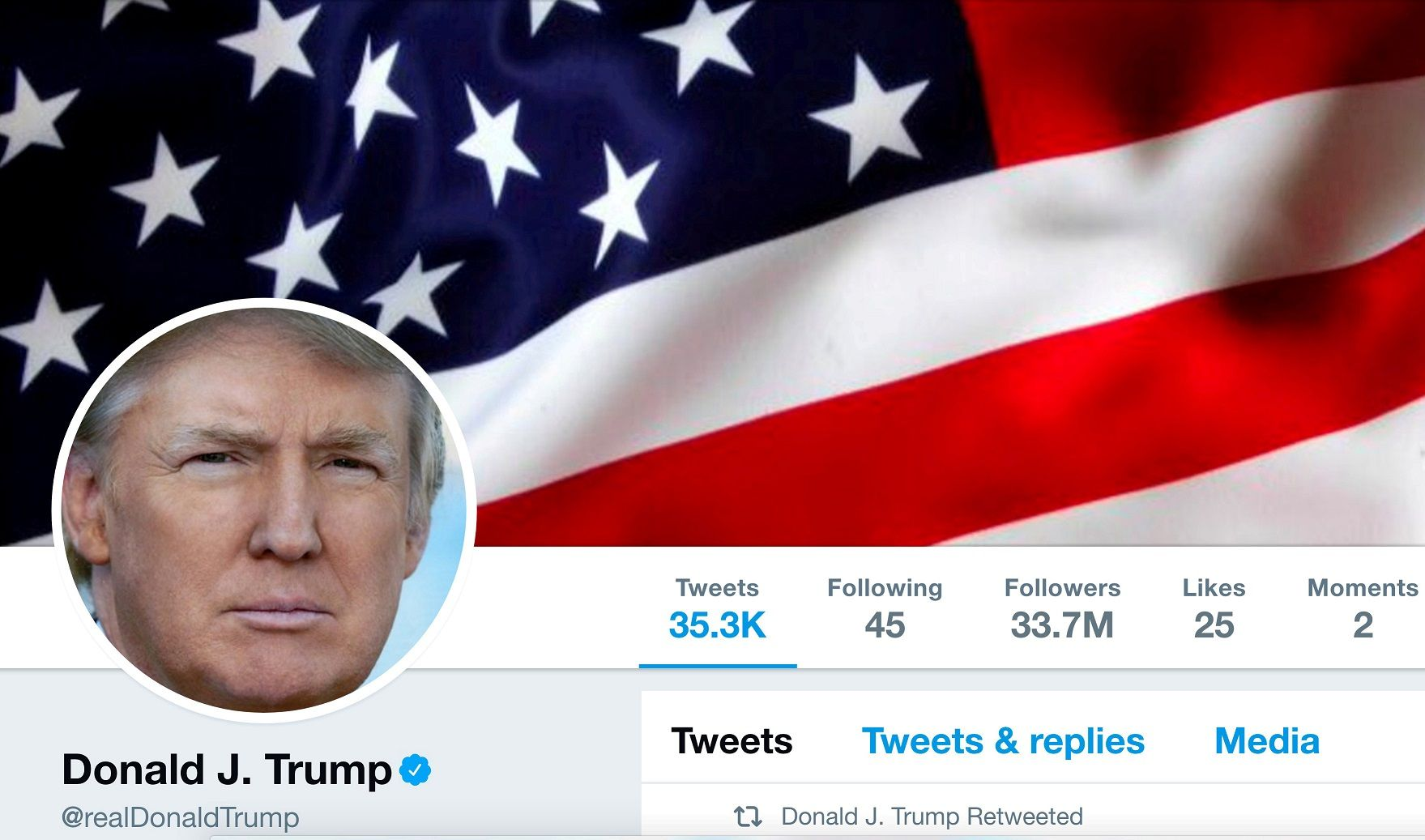 Donald trump twitter account deleted