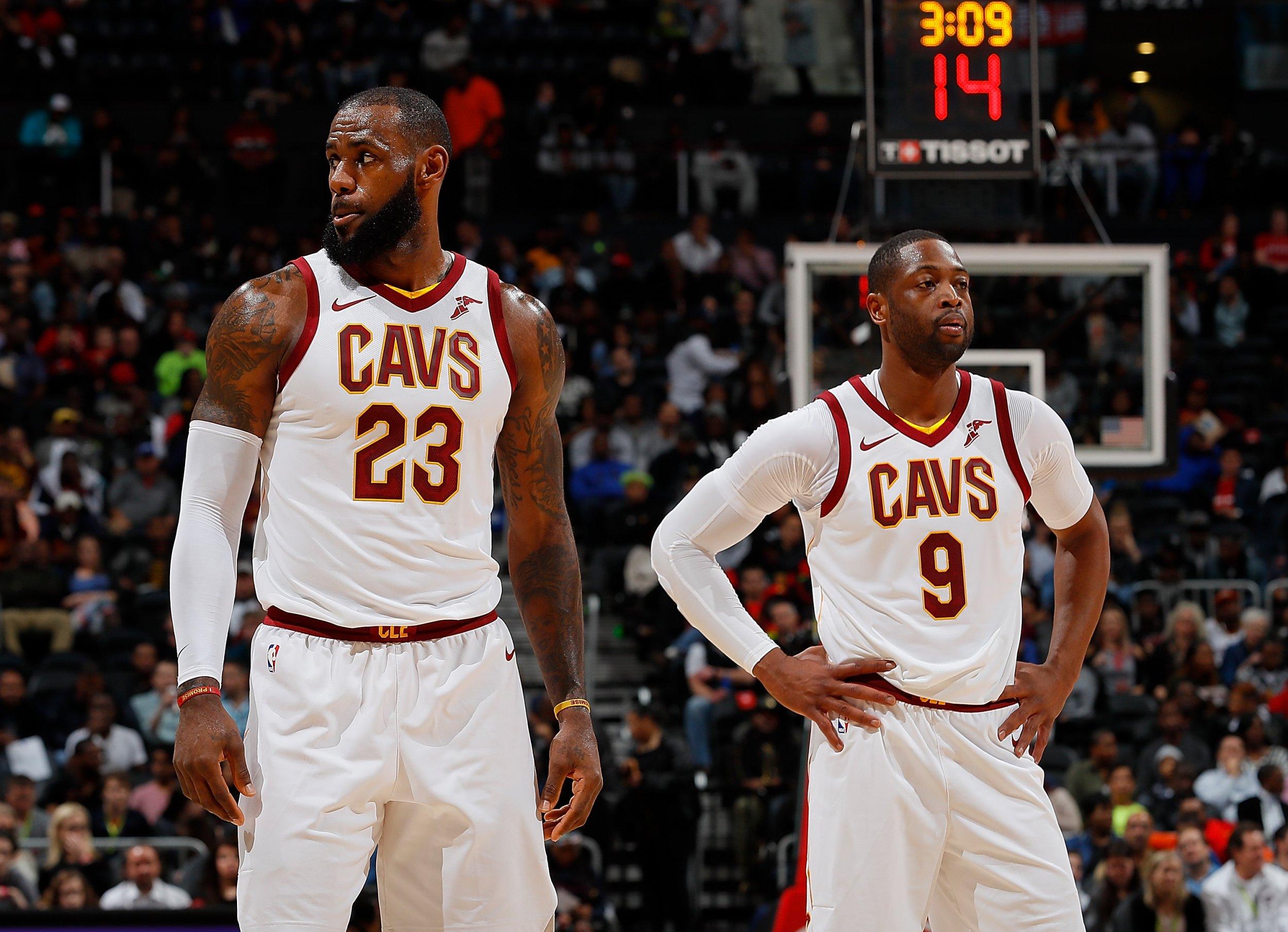 LeBron James, left, and Dwyane Wade.