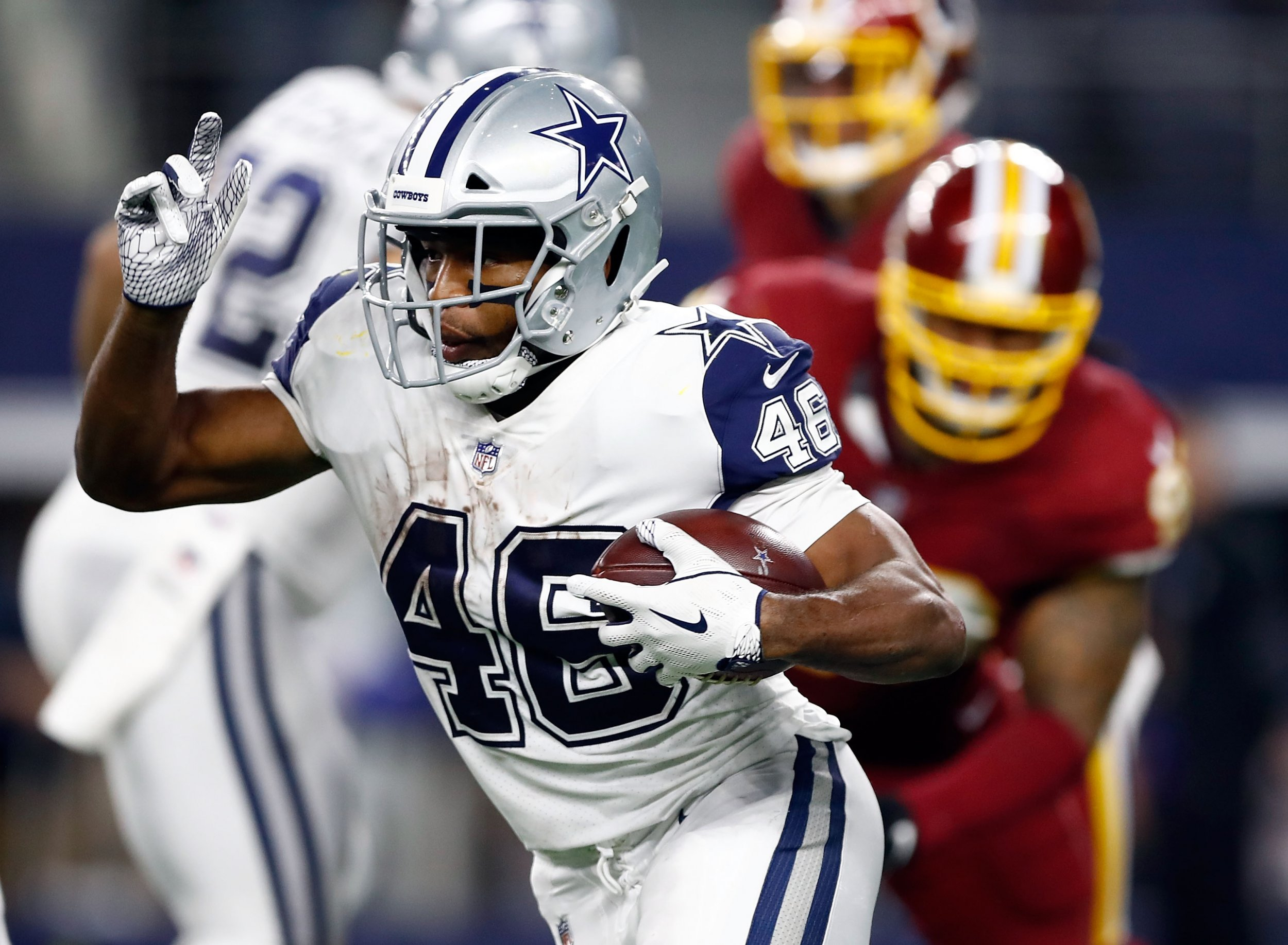 Dallas Cowboys running back Alfred Morris.