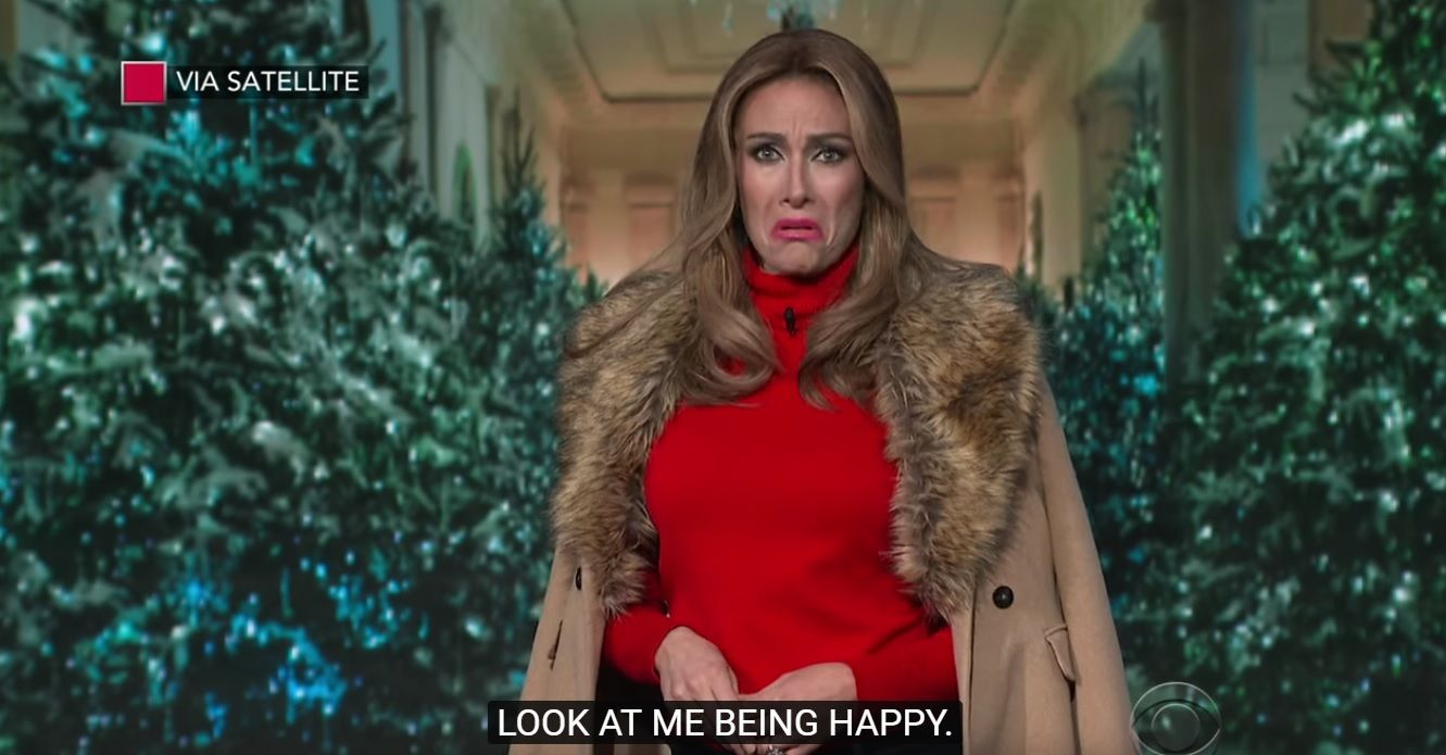 Melania Trump says she's happy to be first lady