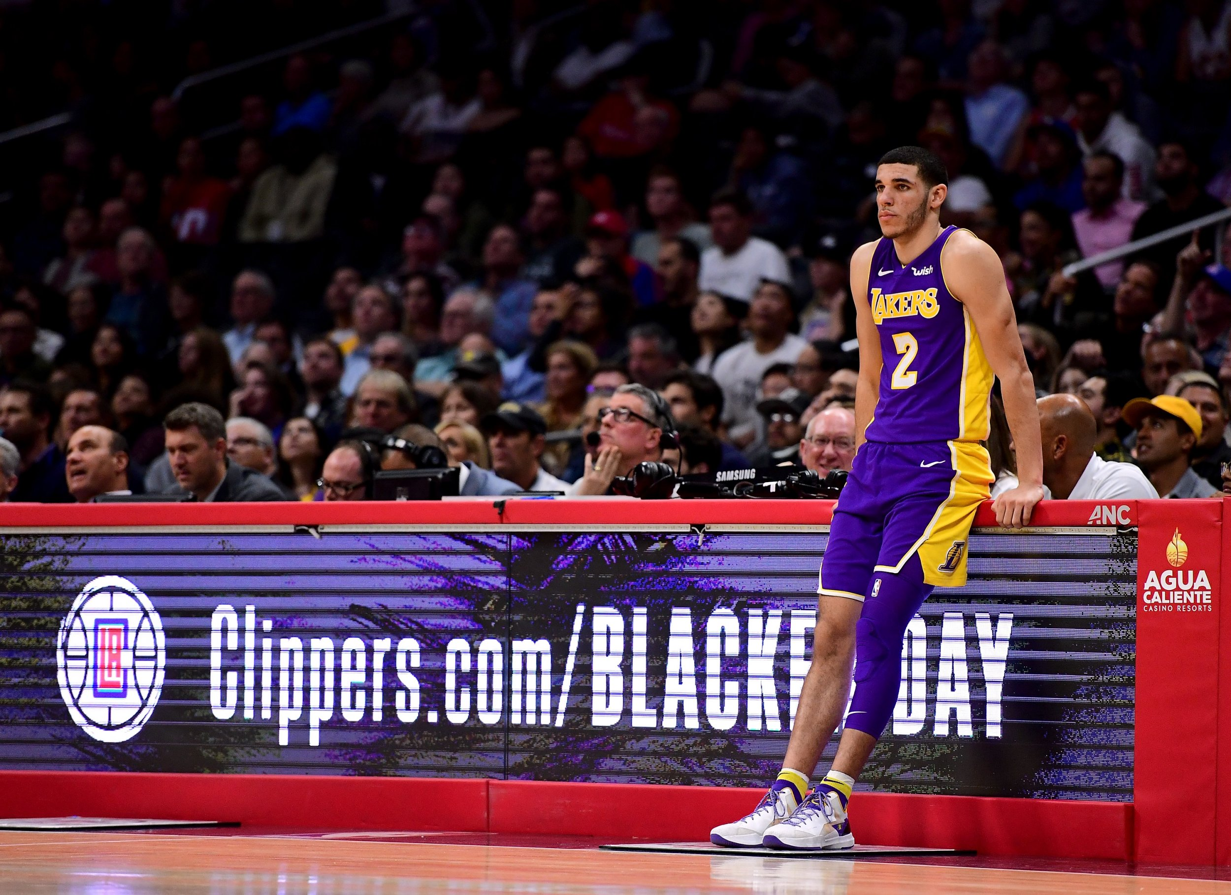 Lakers point guard Lonzo Ball.