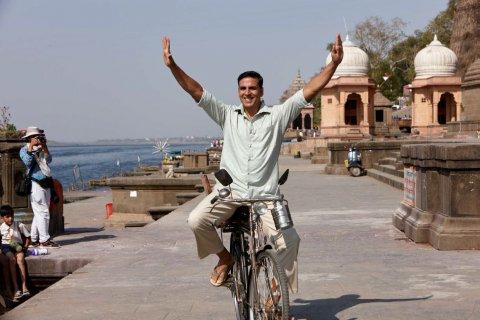 Akshay on bike