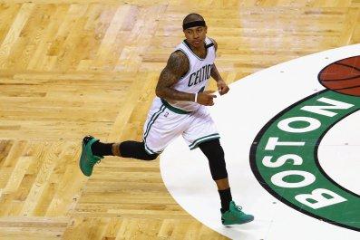 Former Boston Celtics point guard Isaiah Thomas.