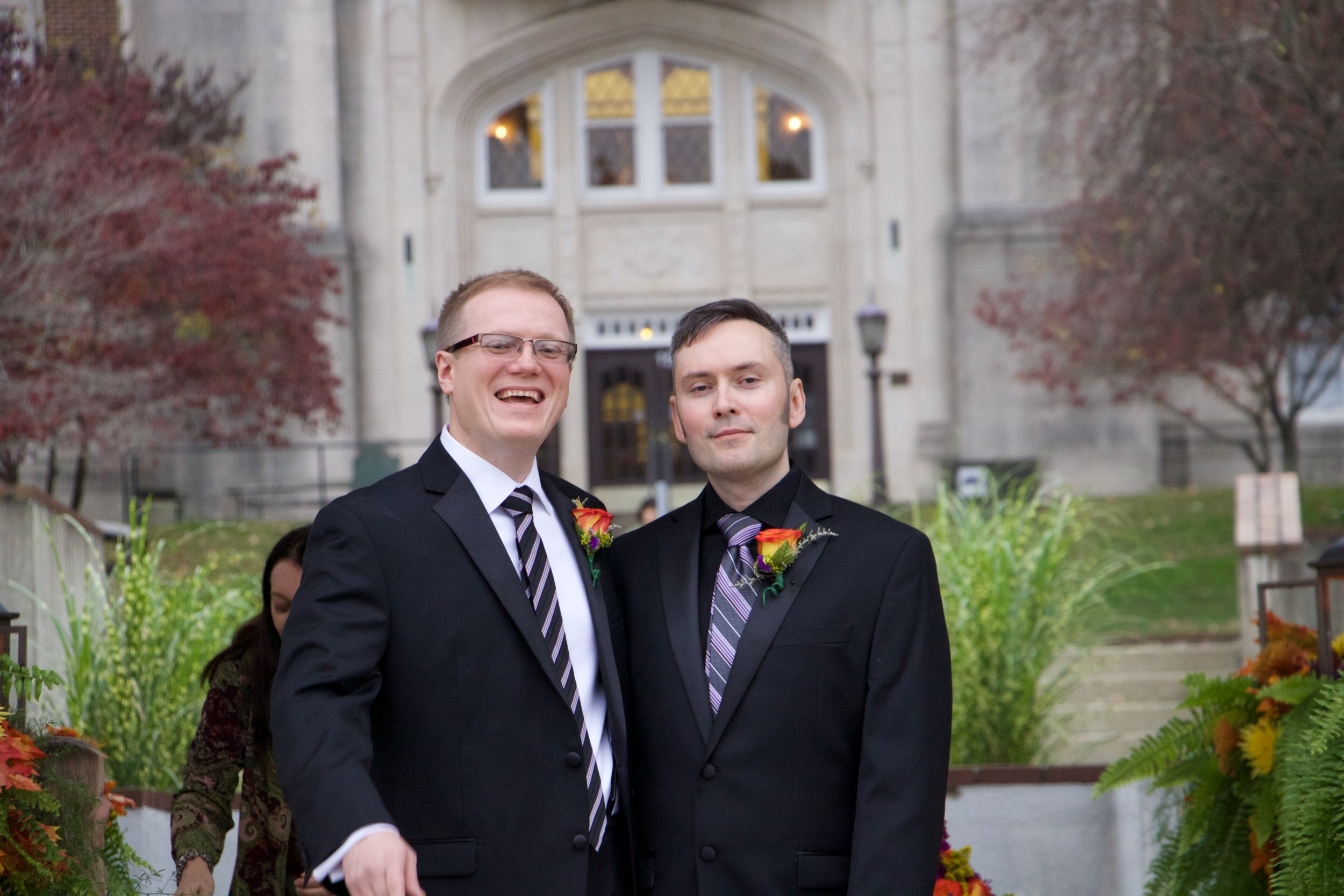 """David Ermold, left, at his wedding to David Moore in 2015. Courtesy of  David Ermold. """""""