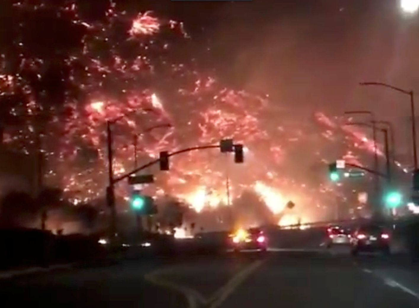 California Wildfires Update Ojai Surrounded By Fire As Powerful