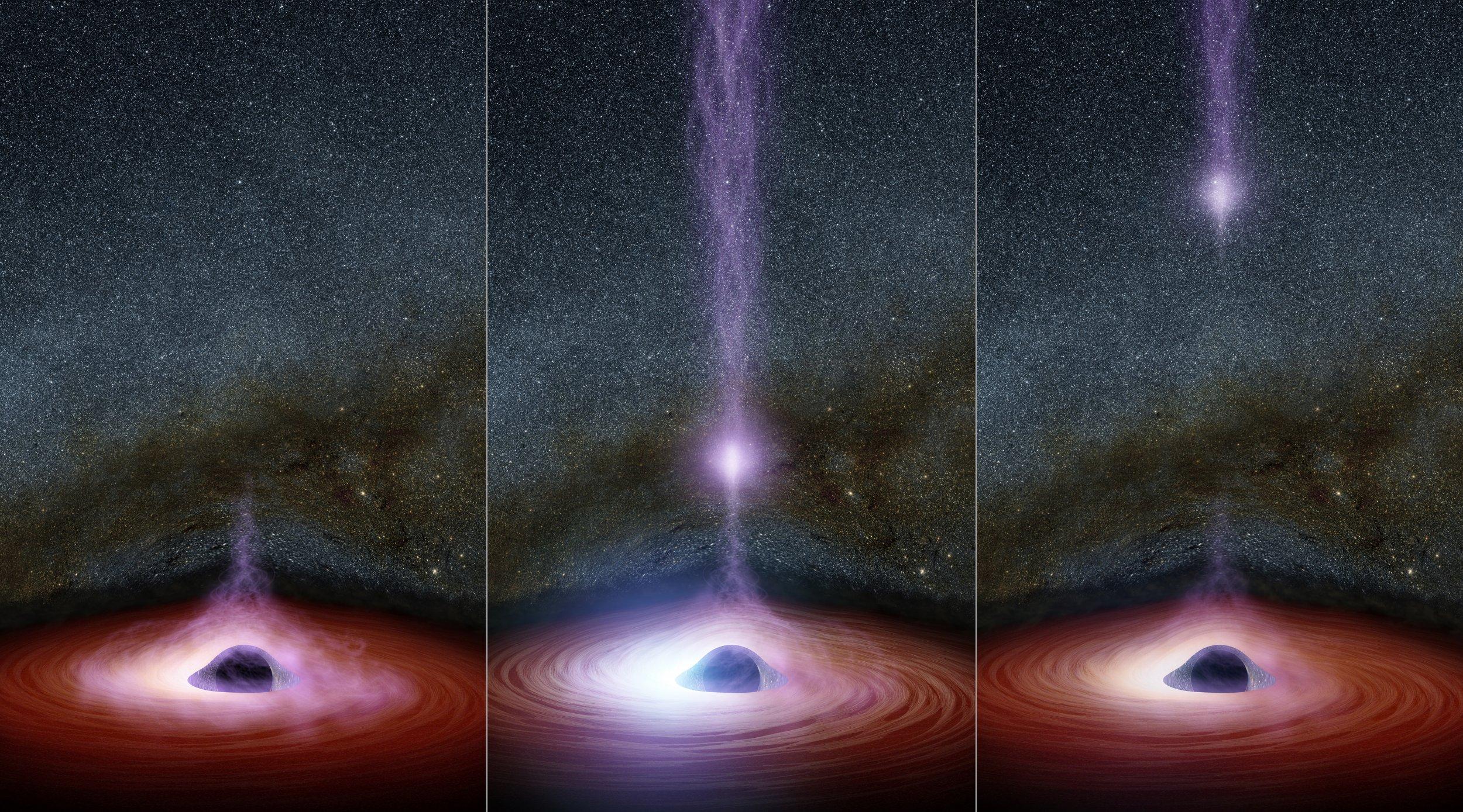 12_7 Black Hole Jet Flare