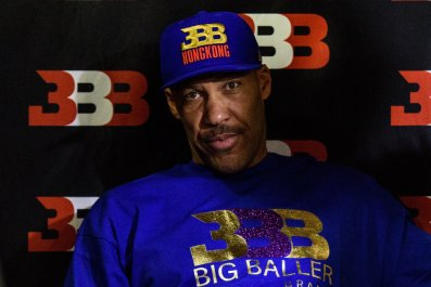 LaVar Ball, father of LaMelo and LiAngelo.