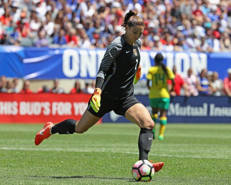 Former U.S.W.N.T. goalkeeper Hope Solo.
