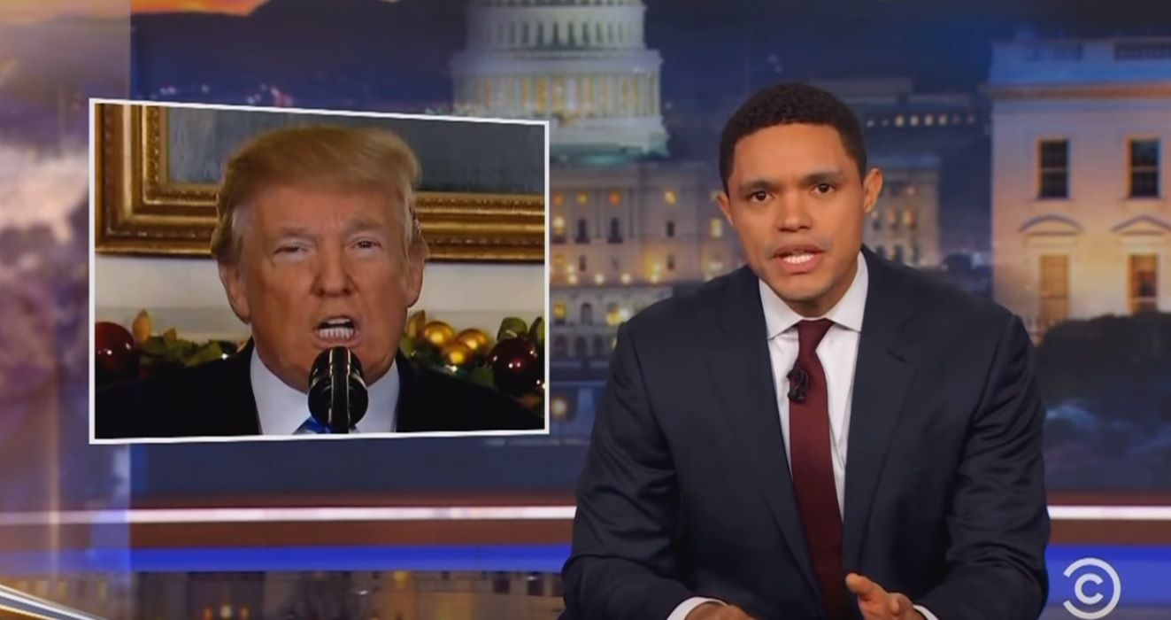 Denture Donald update on Daily Show