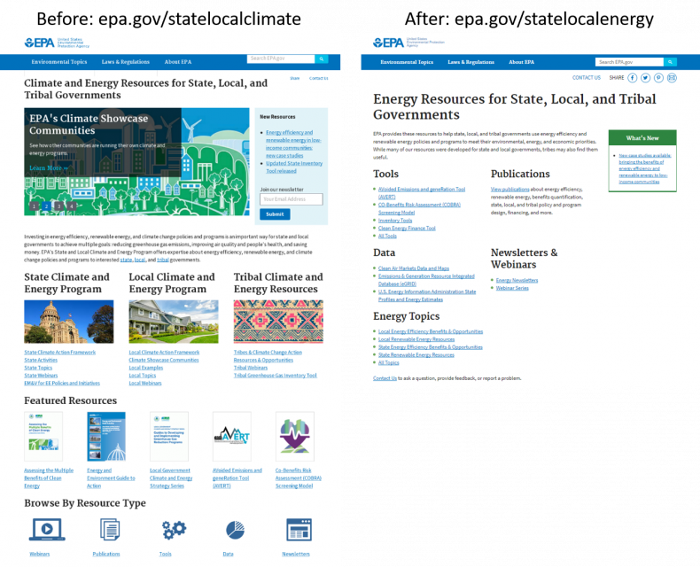 Home Page Side-by-Side State Local Climate and Energy