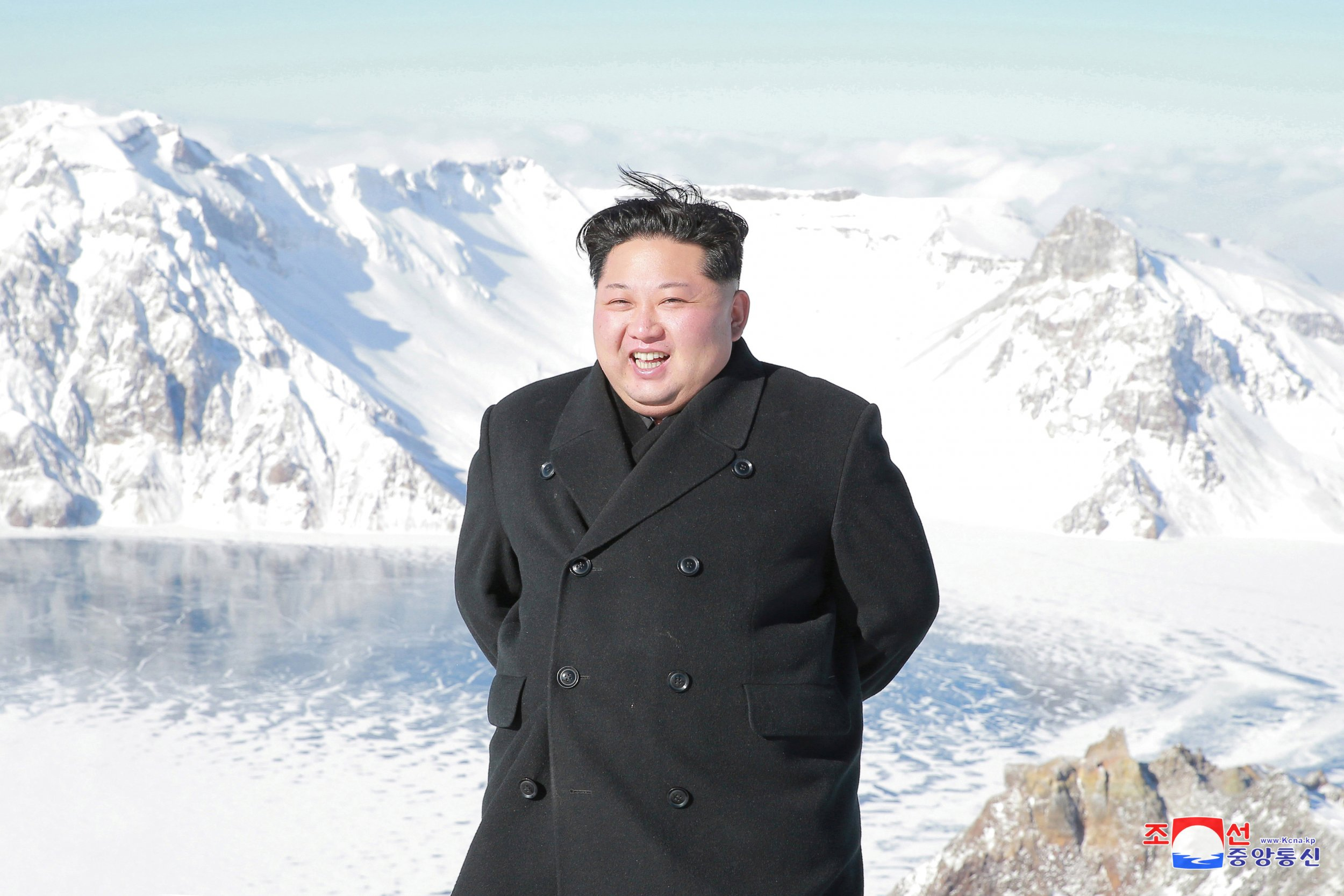 Kim Jong Un celebrated his latest missile test with a visit to a sacred volcano where his father was supposedly born
