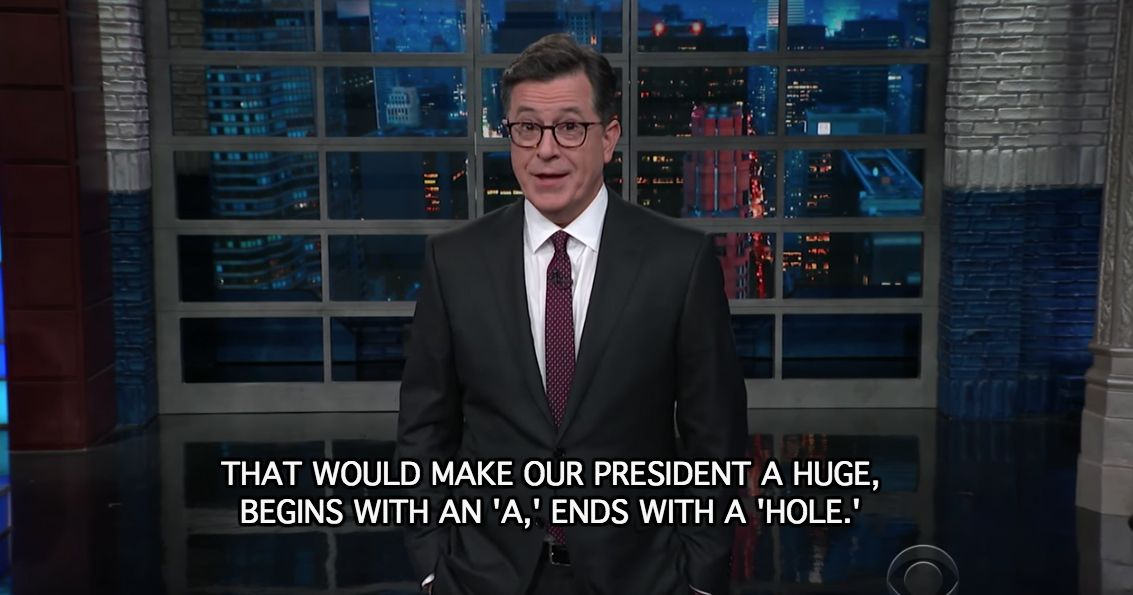 Trump is an a**hole, says Colbert