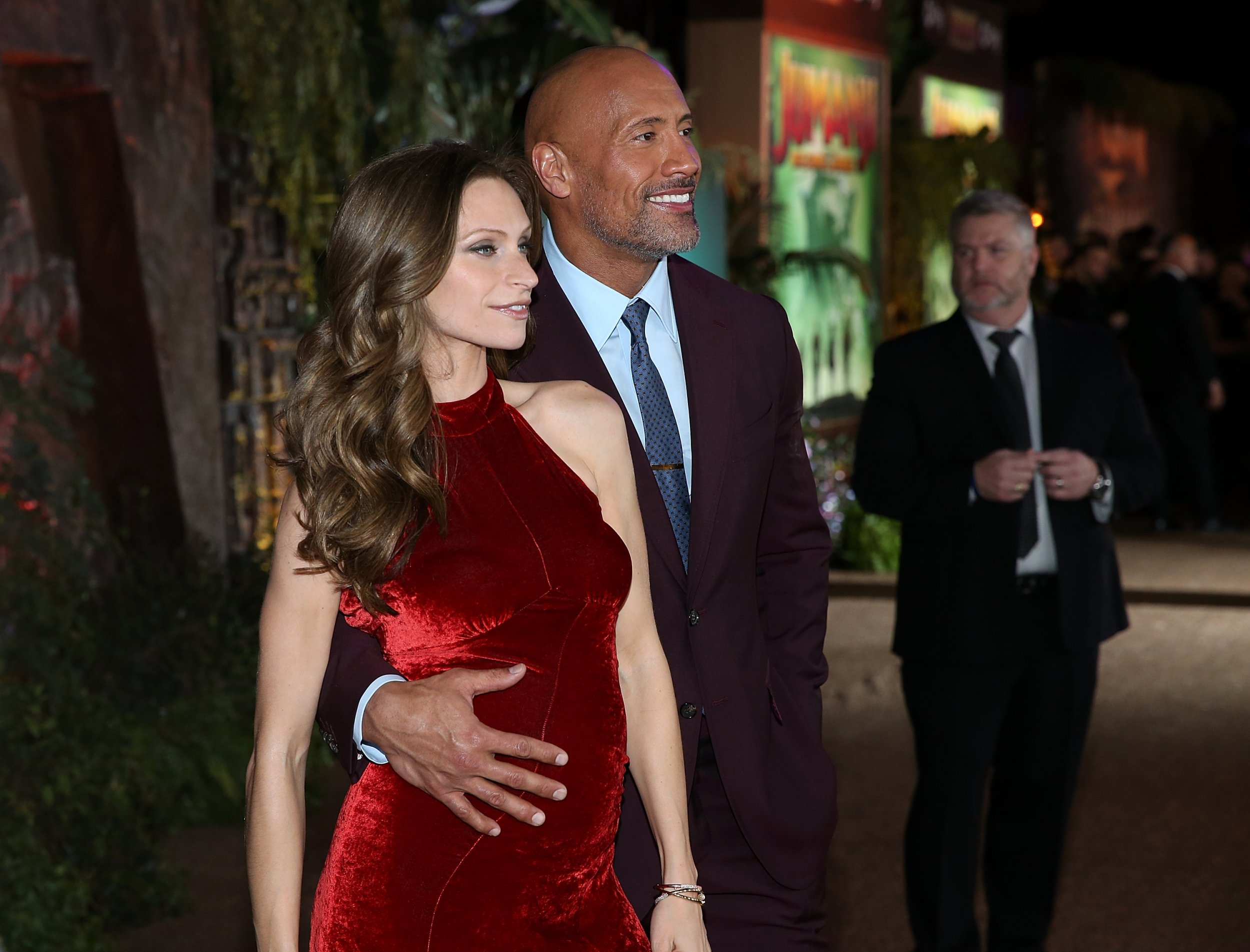 Dwayne Johnson and pregnant girlfriend Lauren Hashian