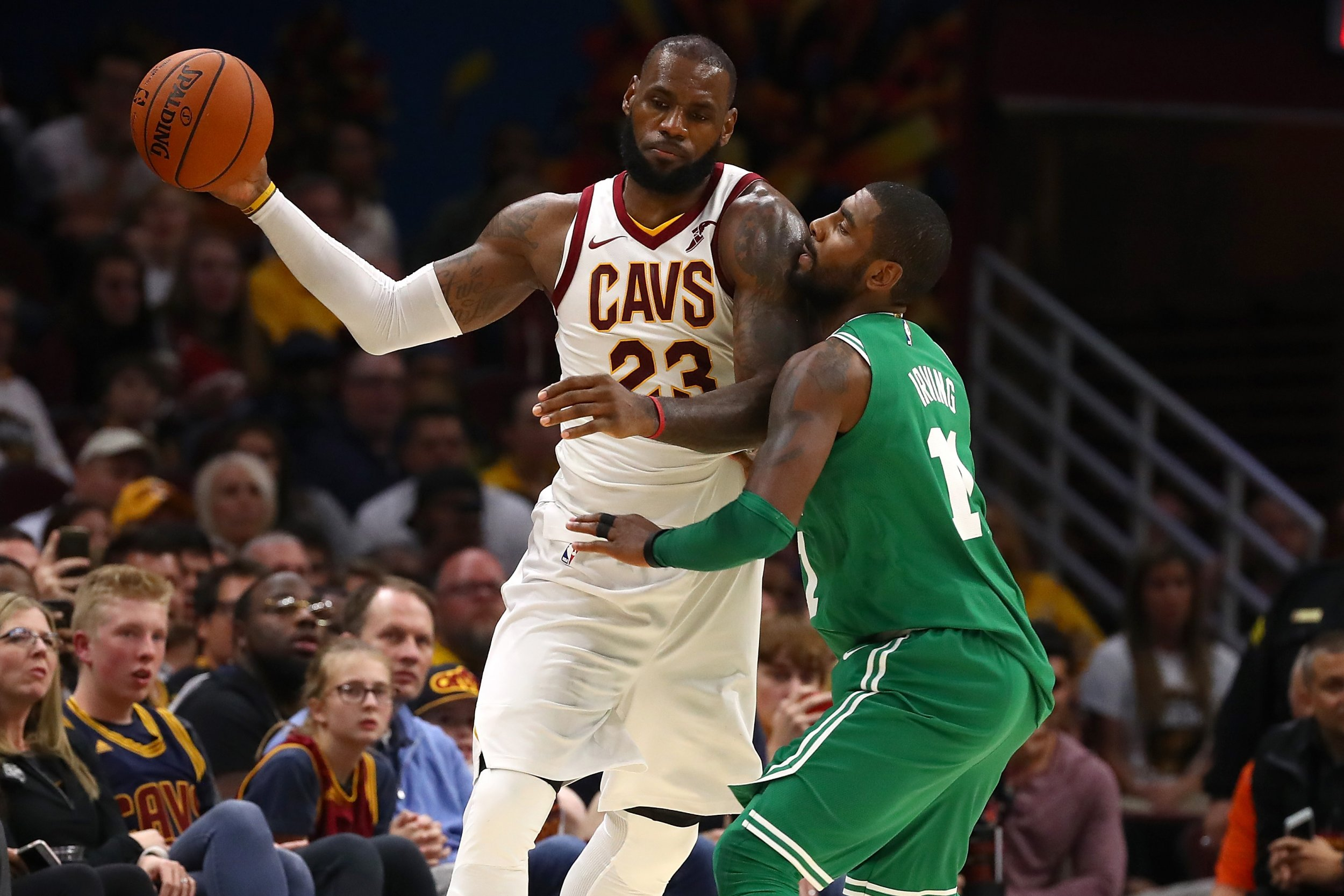 LeBron James, left, and Kyrie Irving.