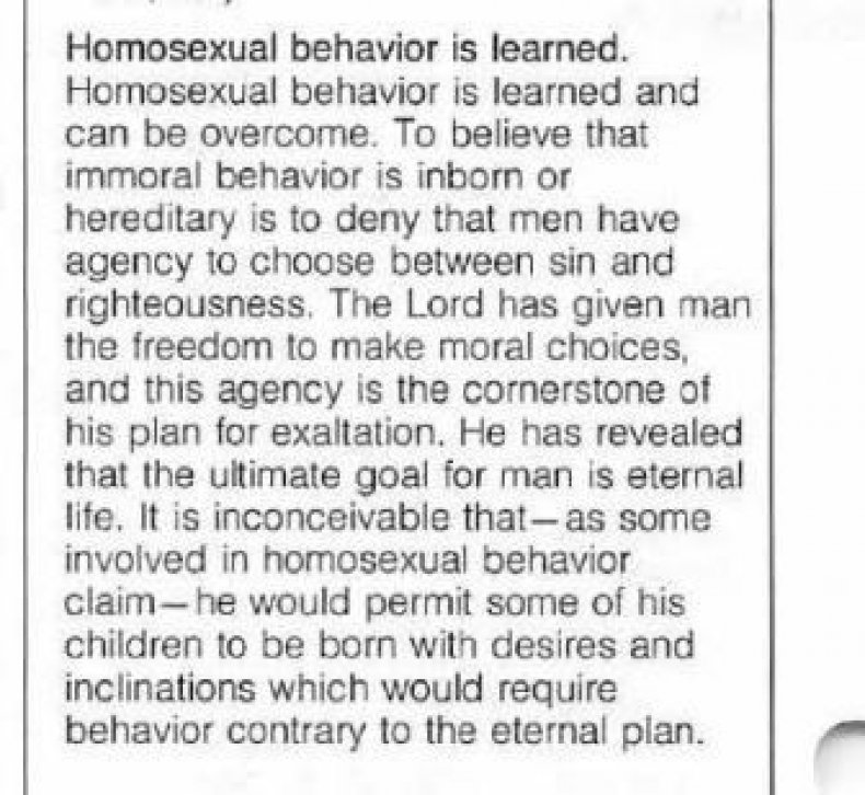 Masturbation Will Make You Gay, Warns Leaked Mormon Church -5144