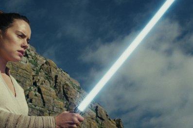 Daisy Ridley in 'Star Wars: The Last Jedi'