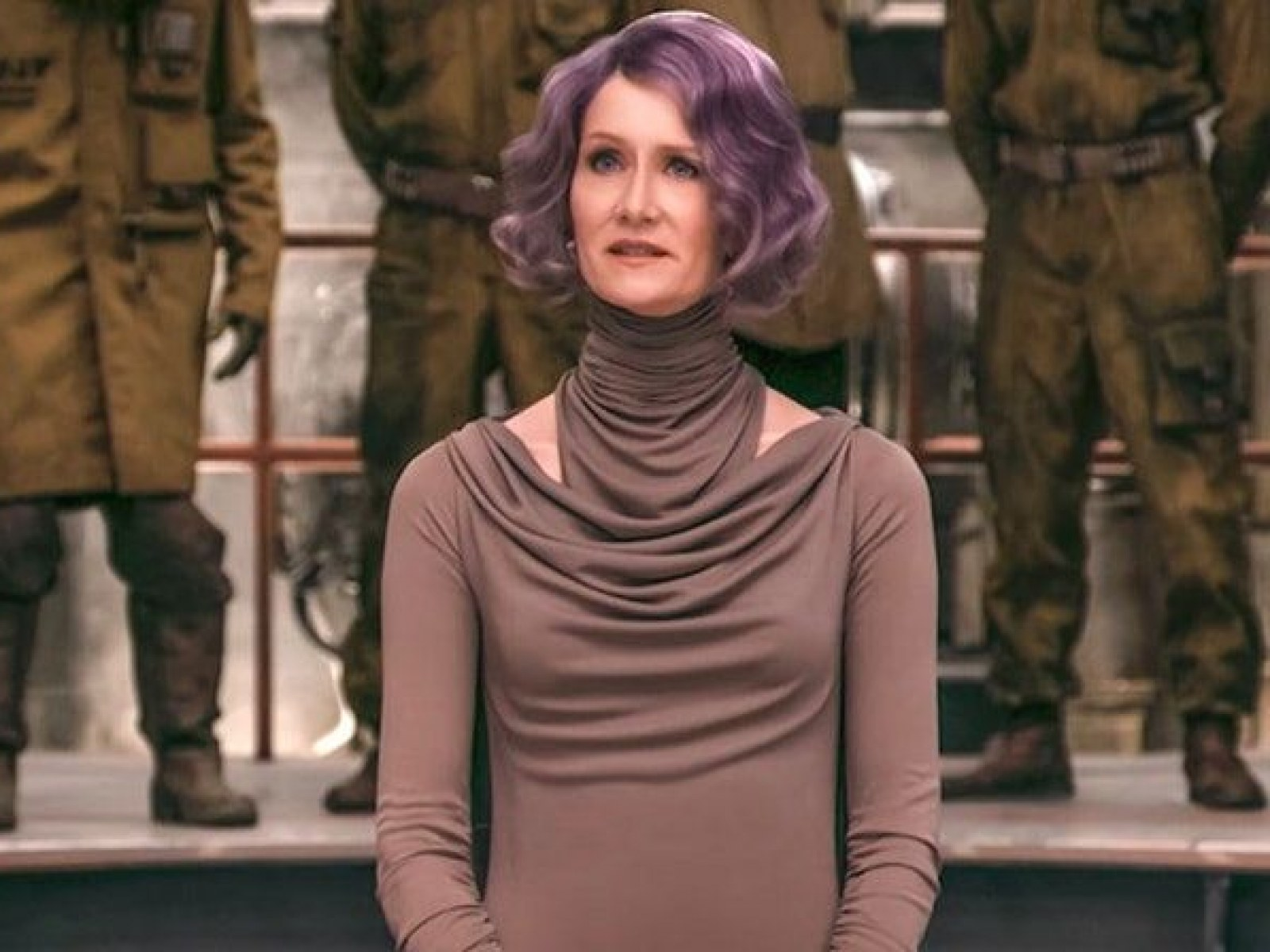 Who Is Admiral Holdo Laura Dern S Purple Haired Last Jedi Character Has A Thrilling Novel Backstory