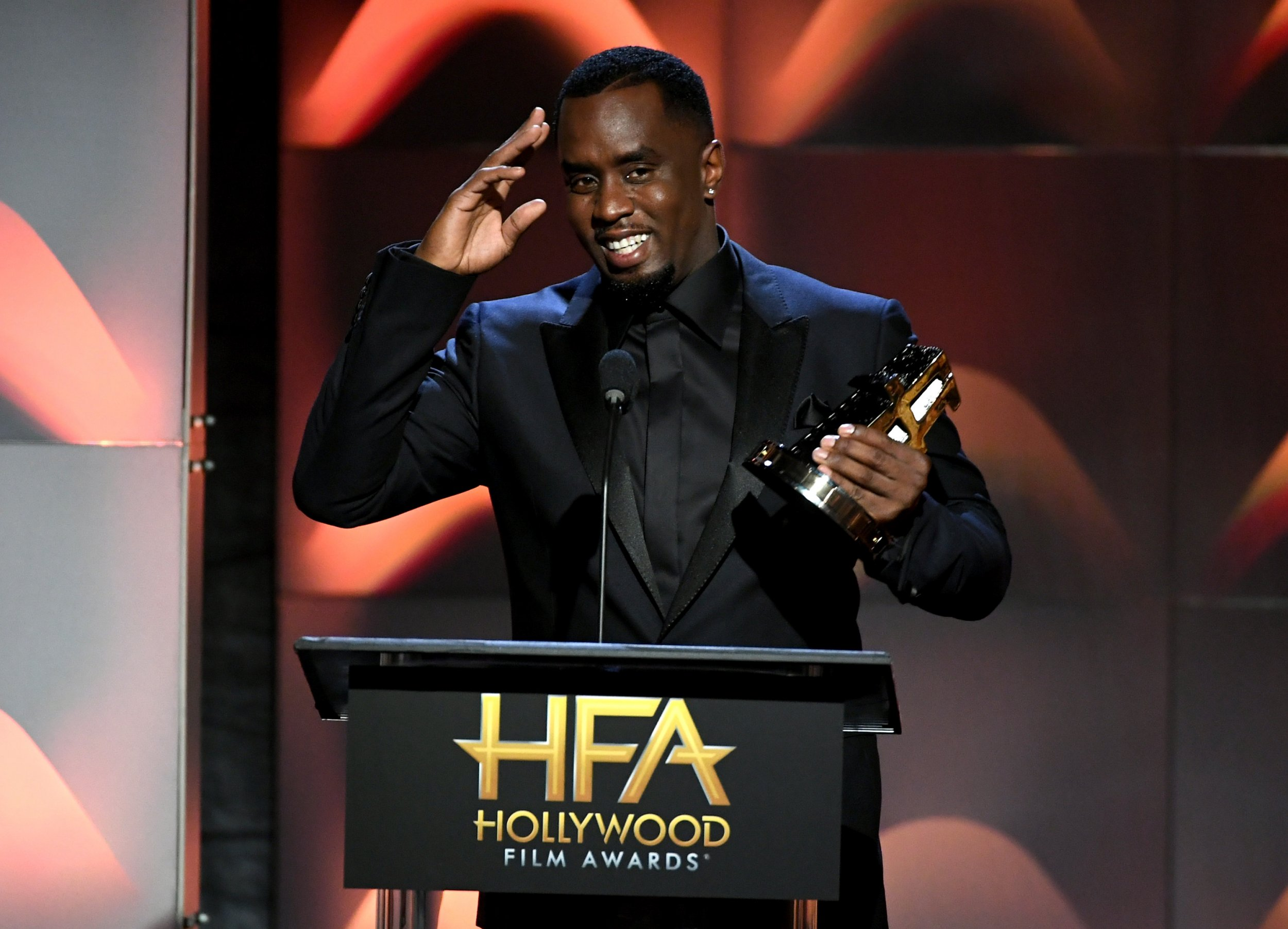 Sean Combs, better known as P Diddy, at The Beverly Hilton Hotel in Beverly Hills, California, November 5.