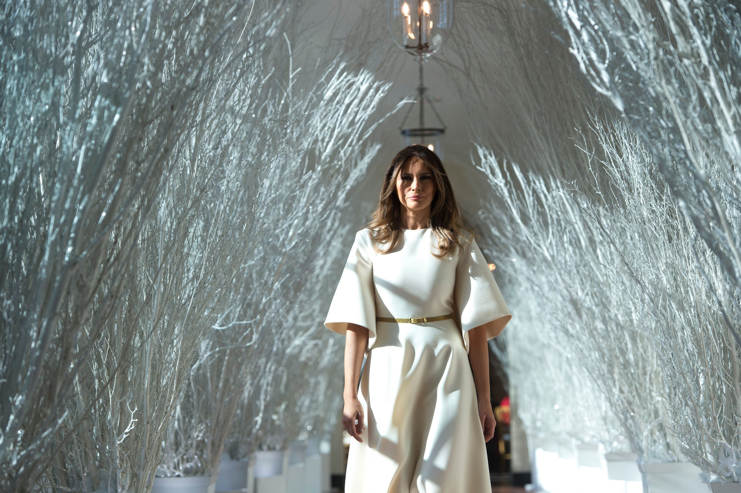 Melania Trump White House Christmas.Trump White House Christmas Celebrations Include 31 000