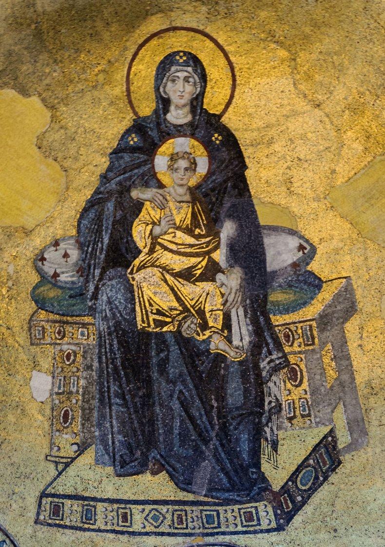 Figure 2, Hagia Sophia Virgin and Jesus mosaic