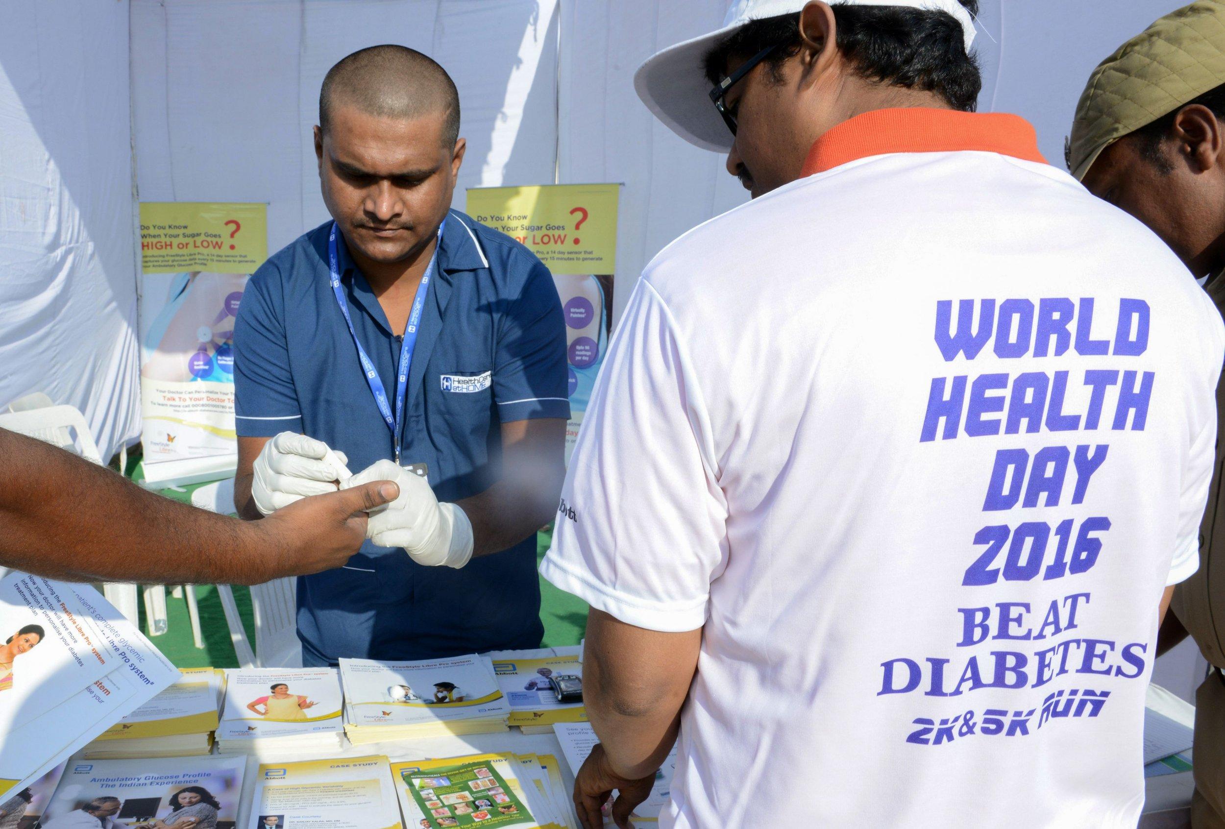 India blood sugar measurement