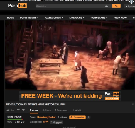 'Hamilton' on Pornhub: First Act in Full Was Uploaded to X ...