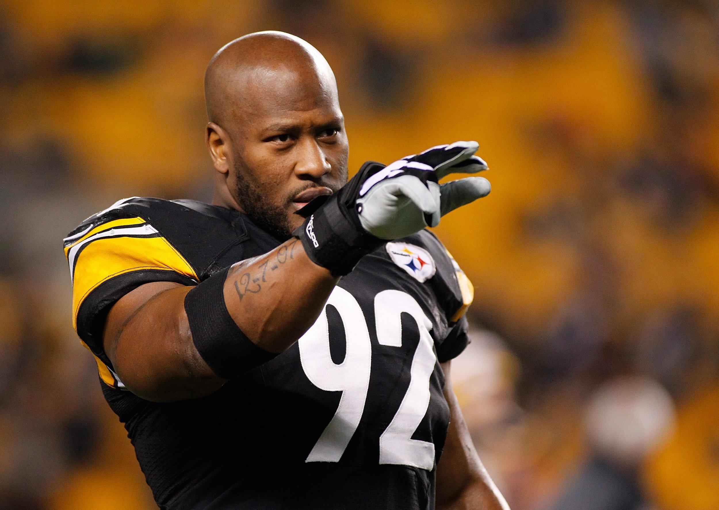 Former Pittsburgh Steelers linebacker James Harrison.