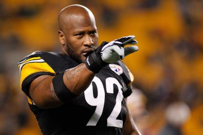 Former Pittsburgh Steelers linebacker James Harrison.