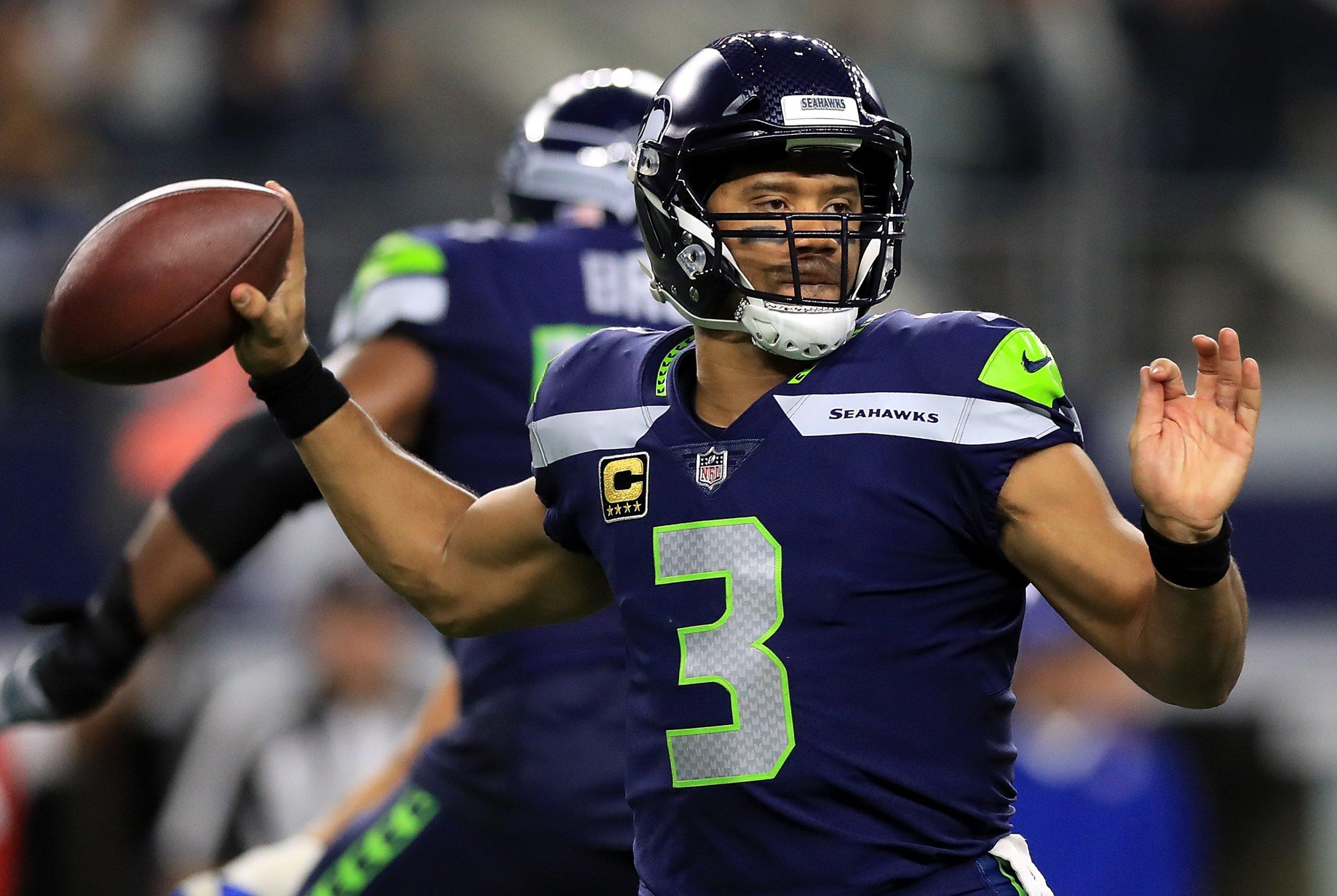 Seattle Seahawks quarterback Russell Wilson.