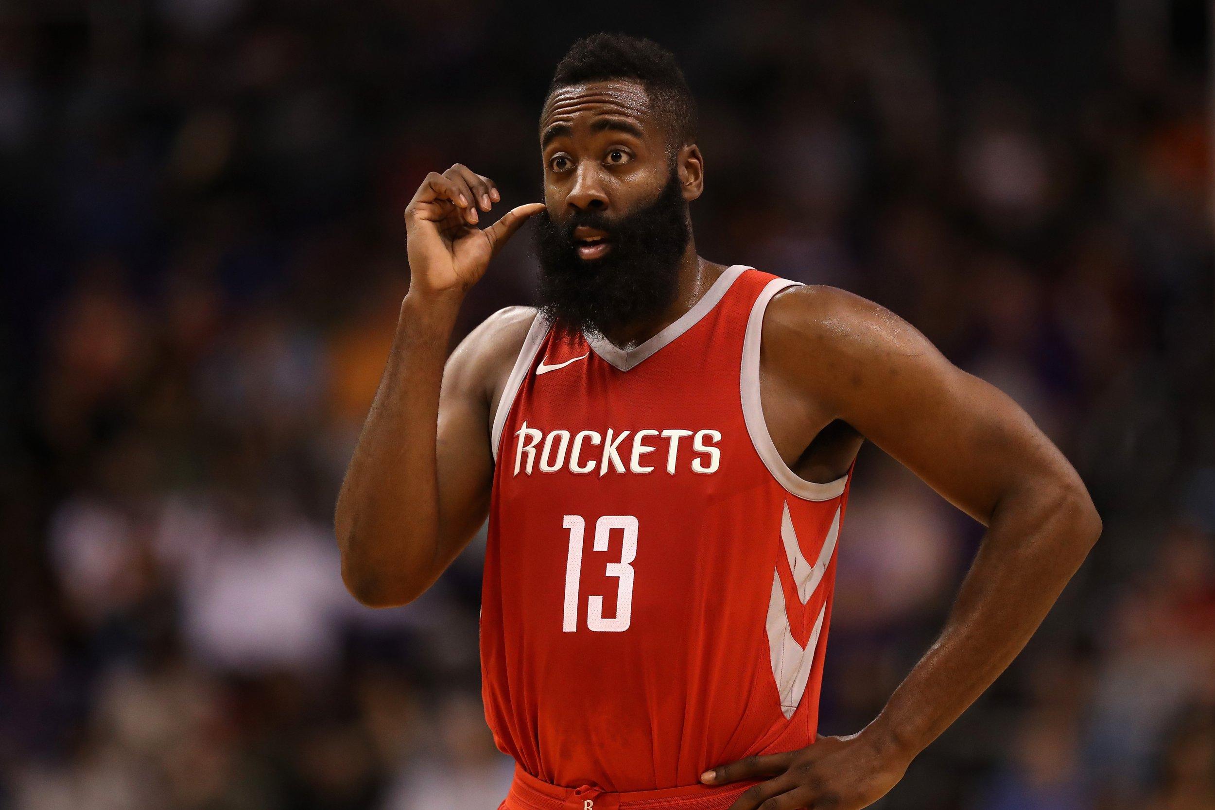 Houston Rockets guard James Harden.