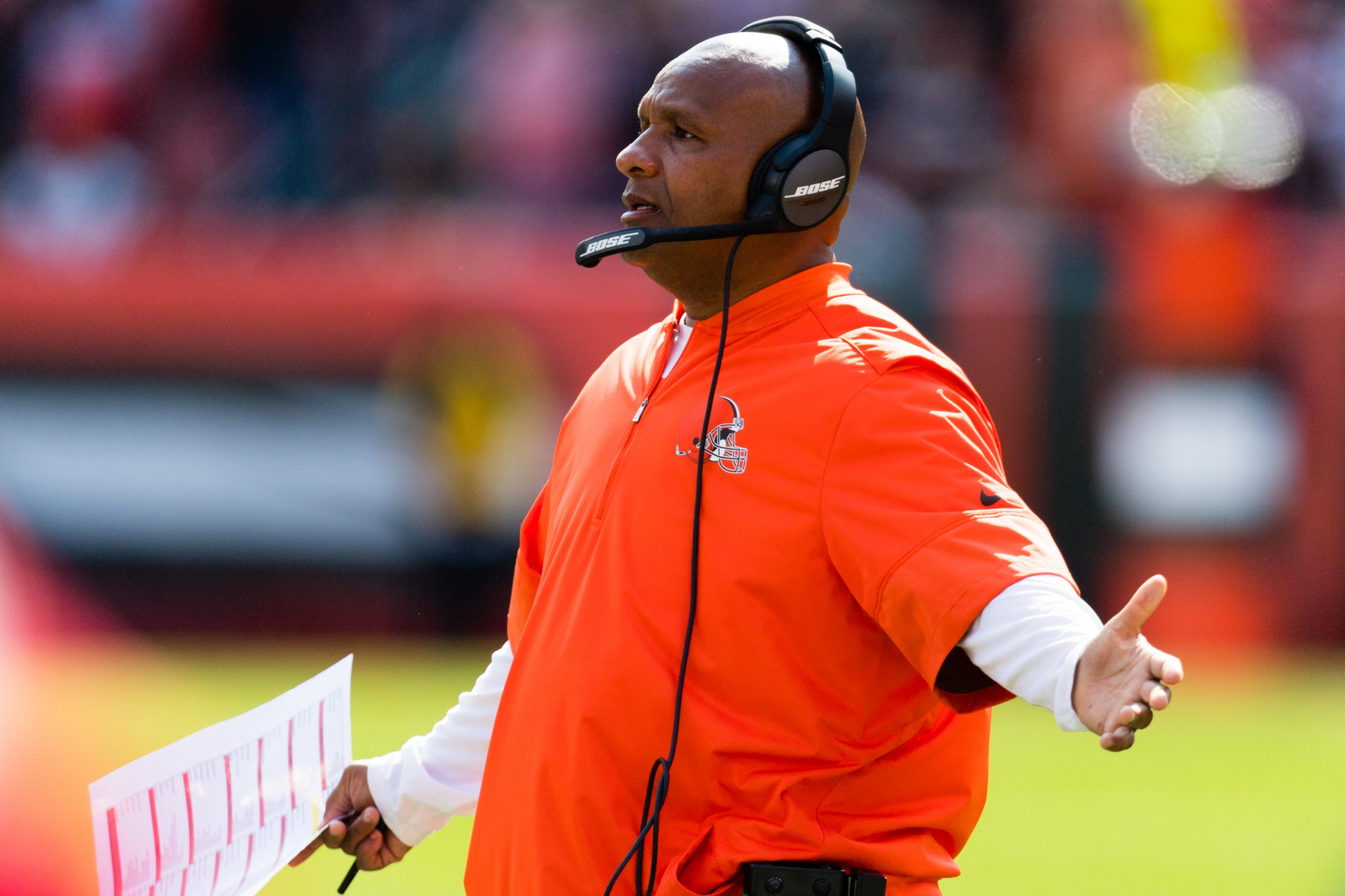 Cleveland Browns head coach Hue Jackson.
