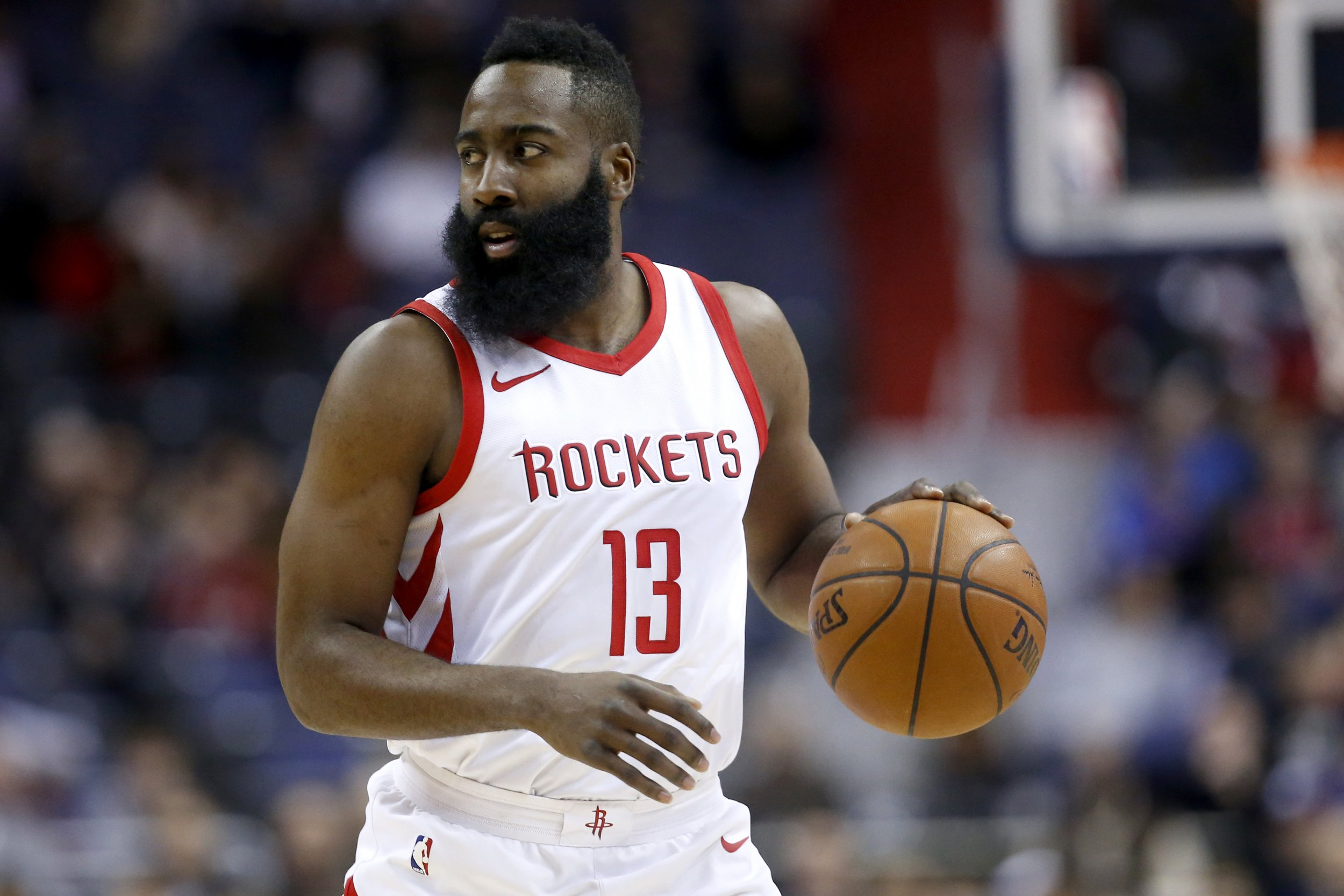 James Harden of the Houston Rockets at Capital One Arena, Washington D.C., December 29.