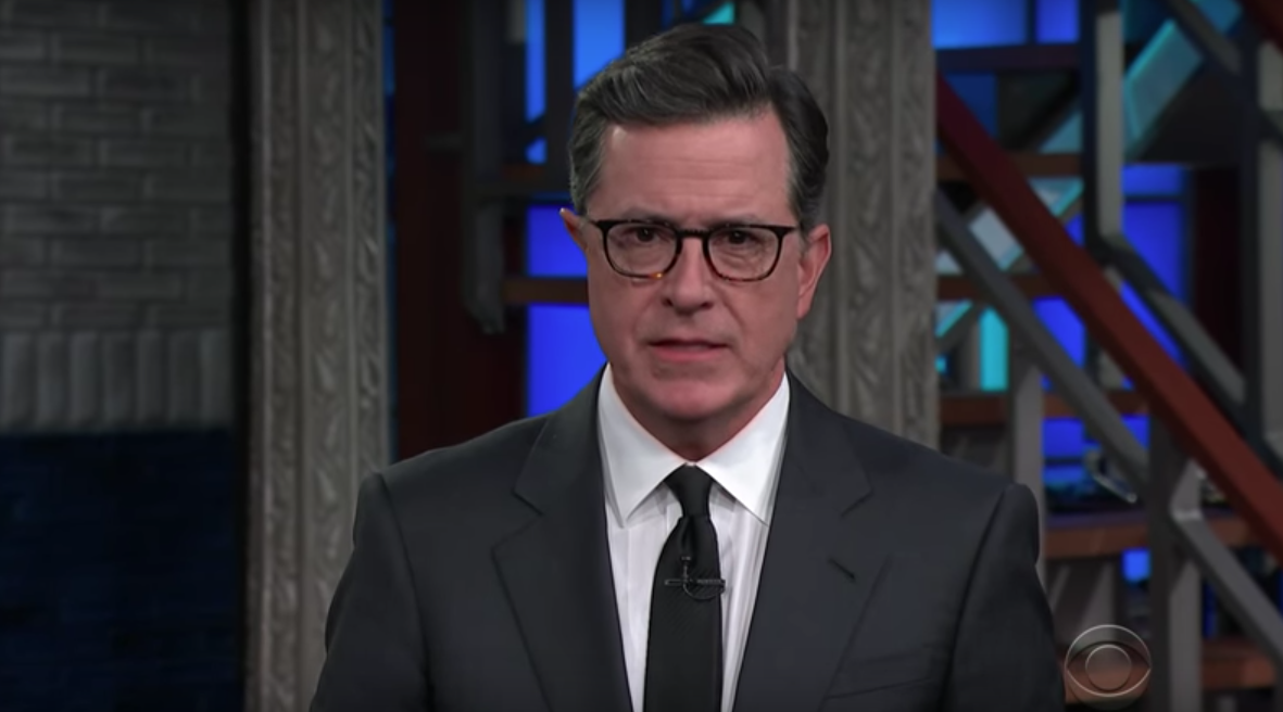 Colbert's solution to Trump nuclear button threats