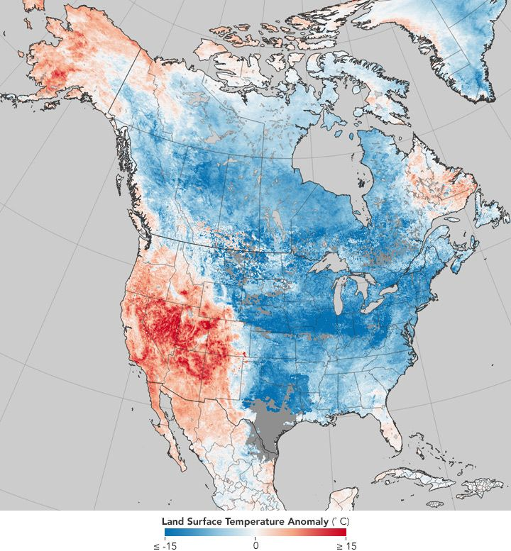 NASA Map Reveals Drastic U.S. Weather Change in Past Eight Years