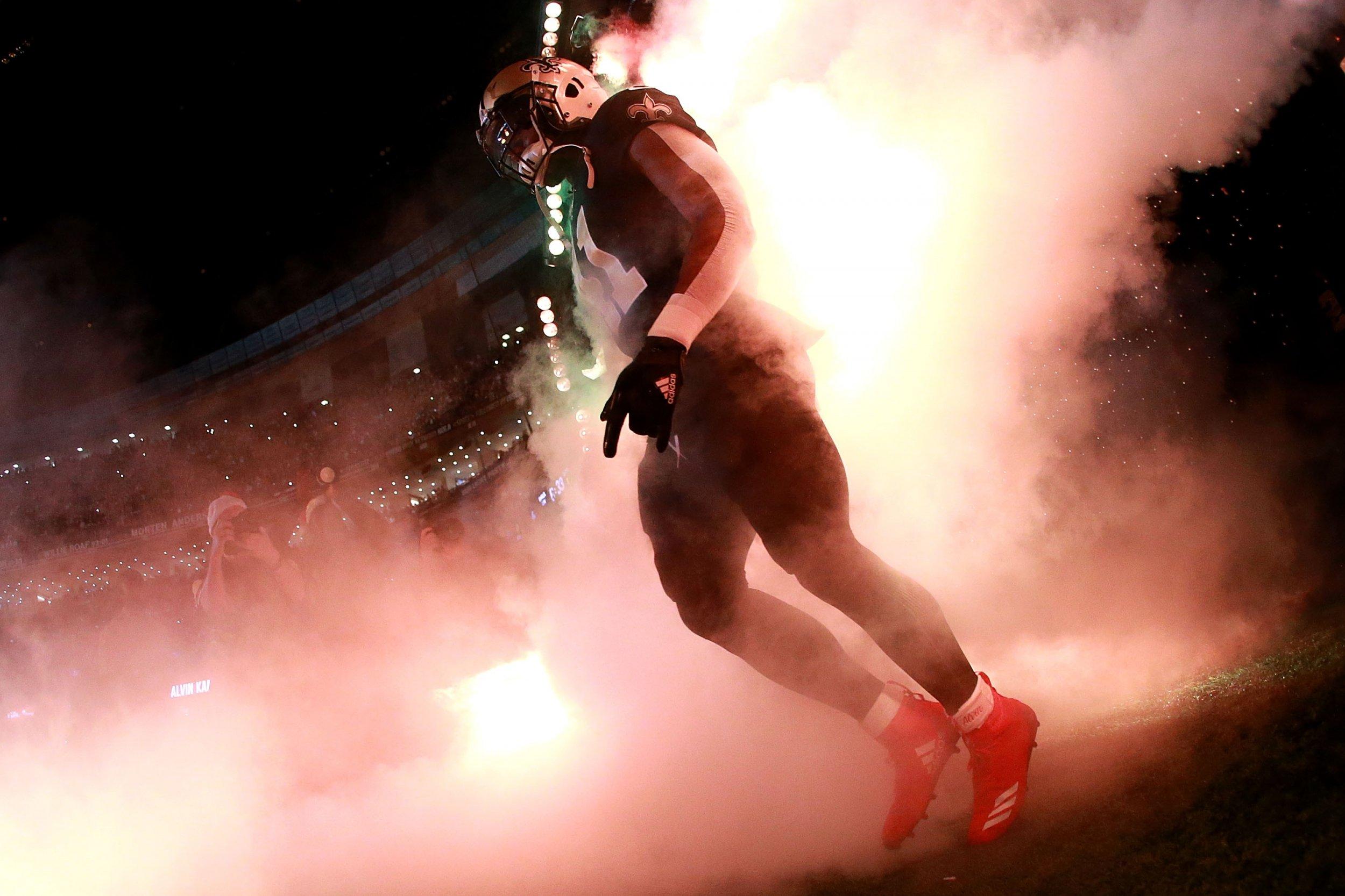 Alvin Kamara of the New Orleans Saints in New Orleans, Louisiana, December 24 2017.