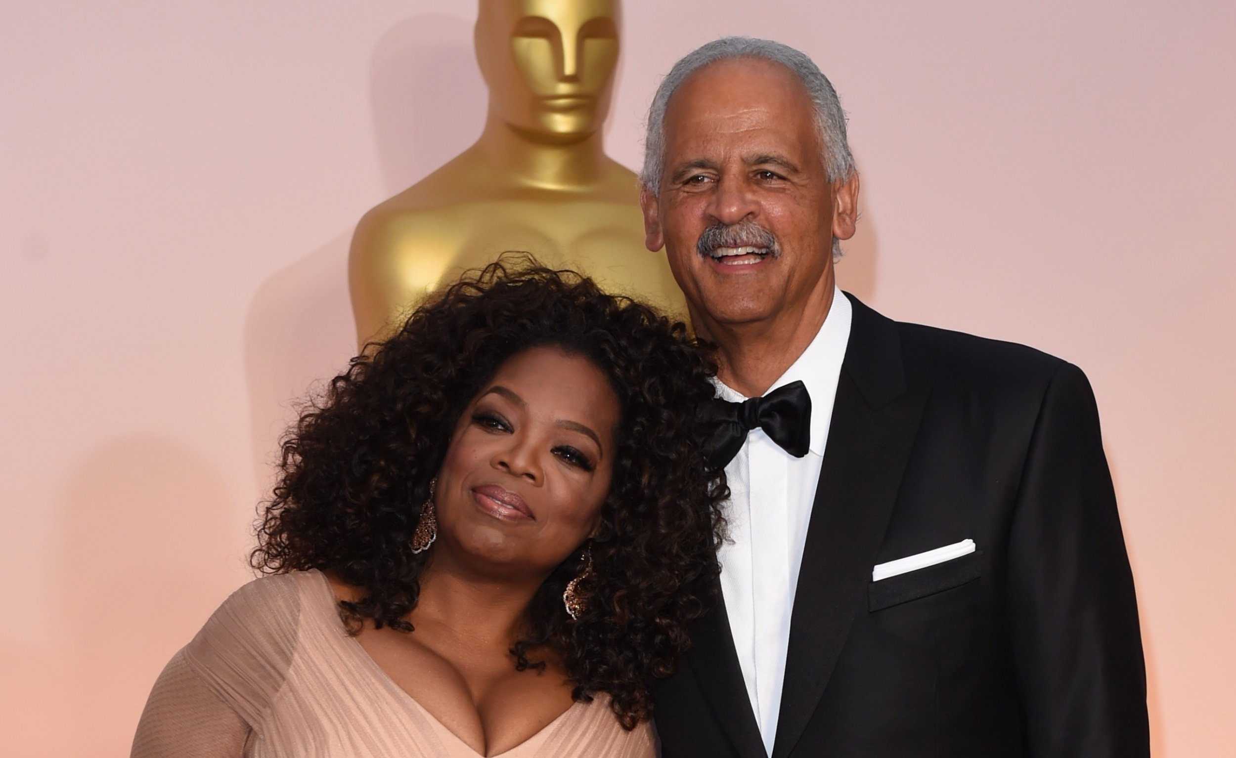 Stedman Graham with desirable, Girlfriend