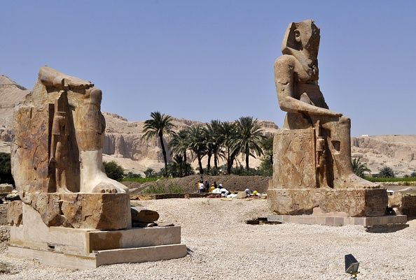 Ancient Egypt: Feet of Stone Statue of Famous Pharaoh