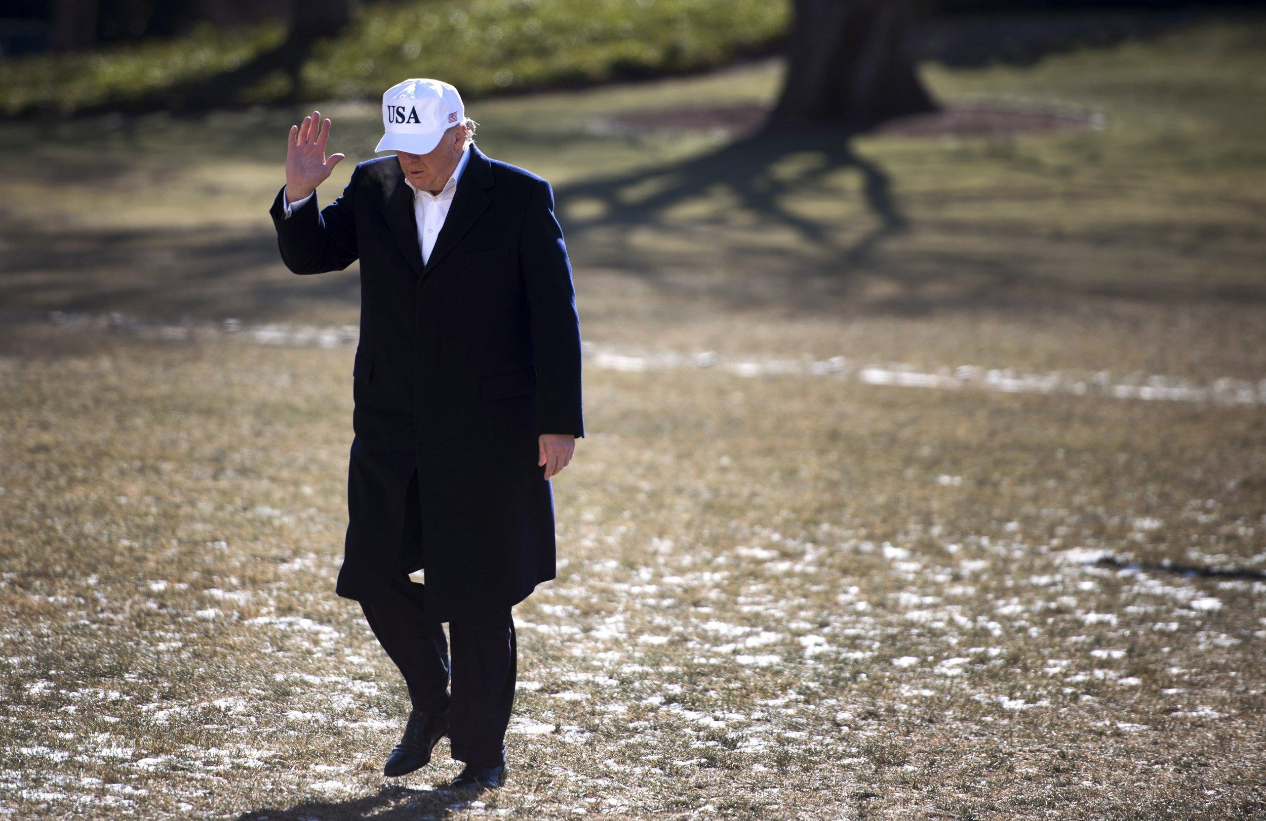 Trump waving Jan 7