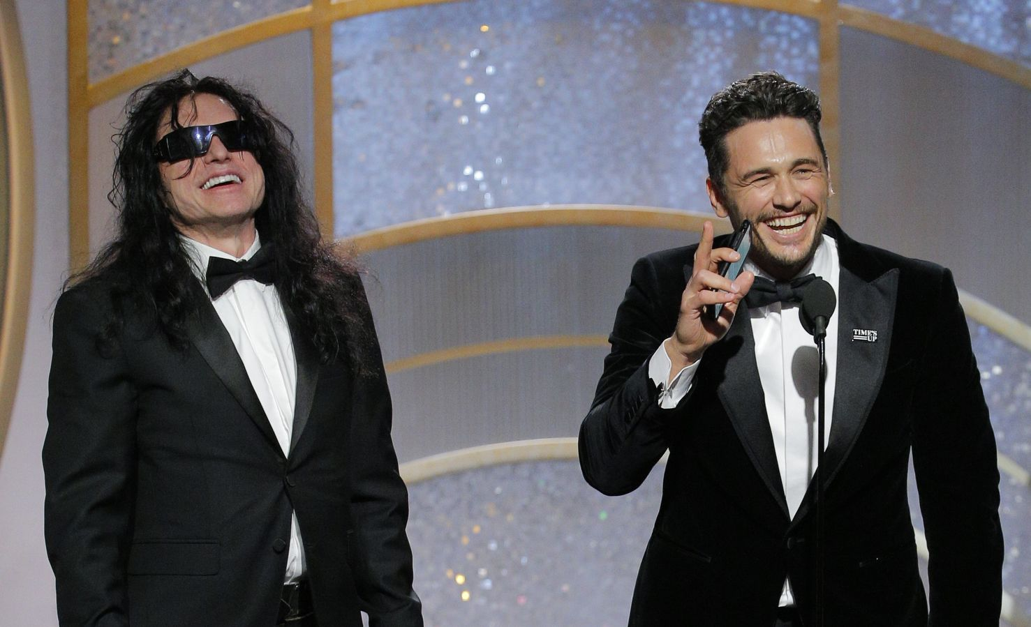 Tommy Wiseau Was Dragged Up to Golden Globes Stage, Greg ...