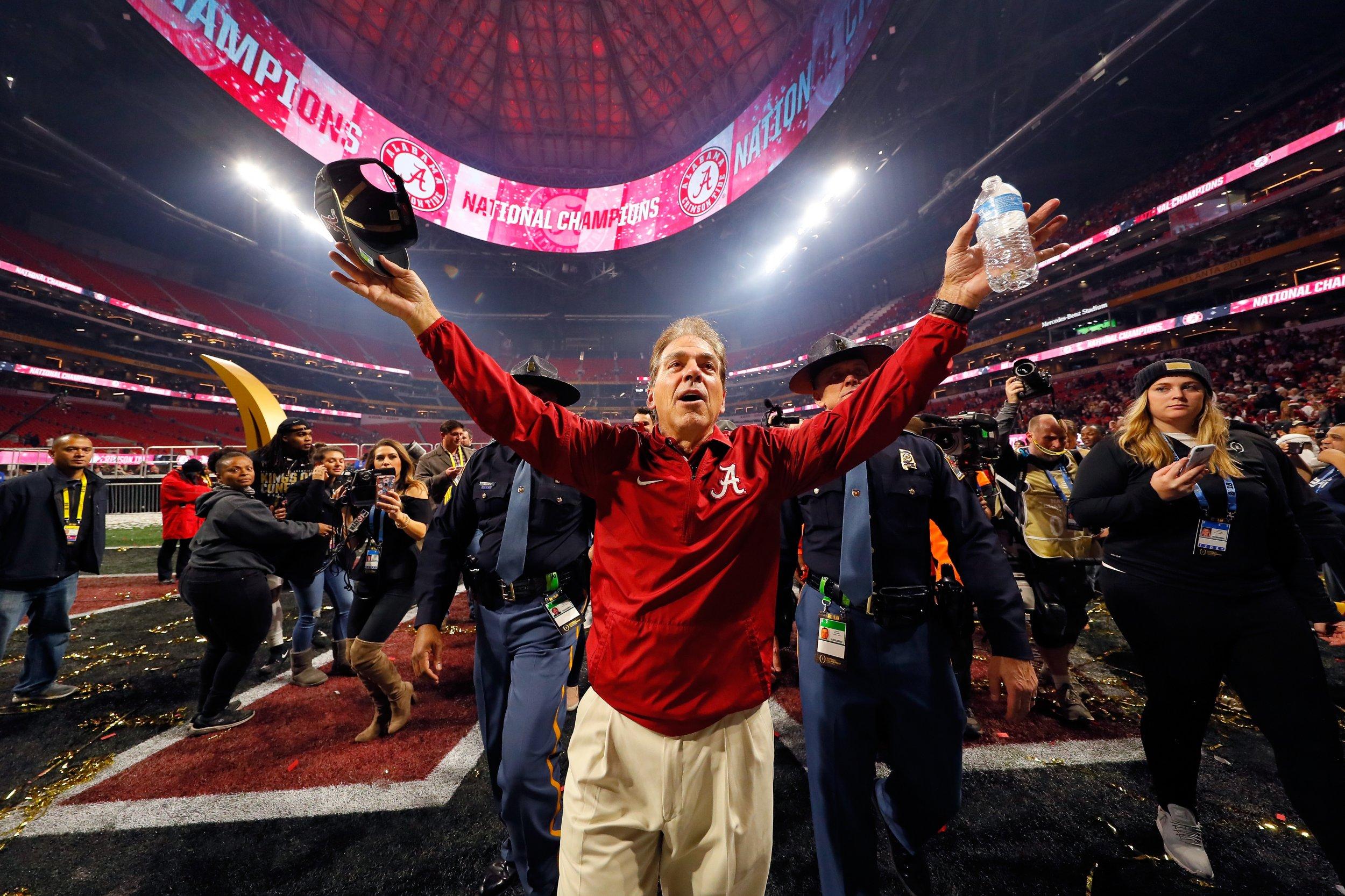 Alabama Crimson Tide head coach Nick Saban.