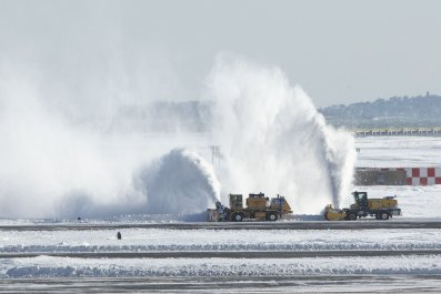 Logan Airport Boston Bomb Cyclone
