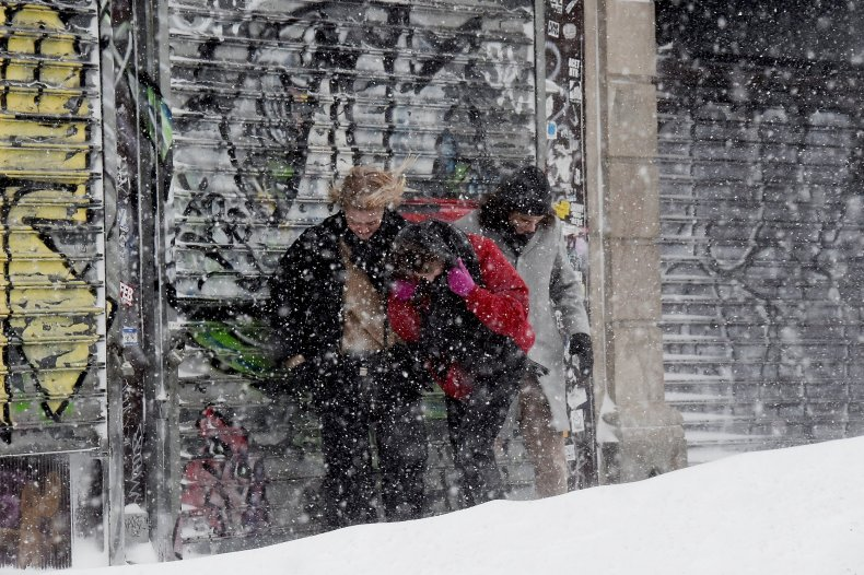people caught in bomb cyclone