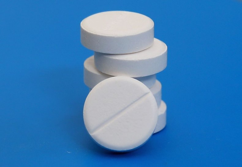 Acetaminophen tablets stacked