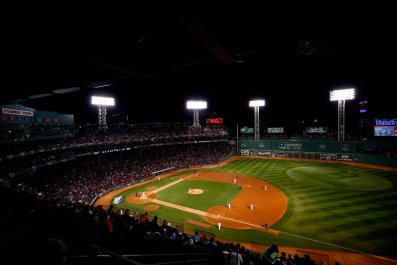 A general view of Game One of the 2013 World Series between the Boston Red Sox and the St. Louis Cardinals at Fenway Park, Boston, Massachusetts, October 23 2013.