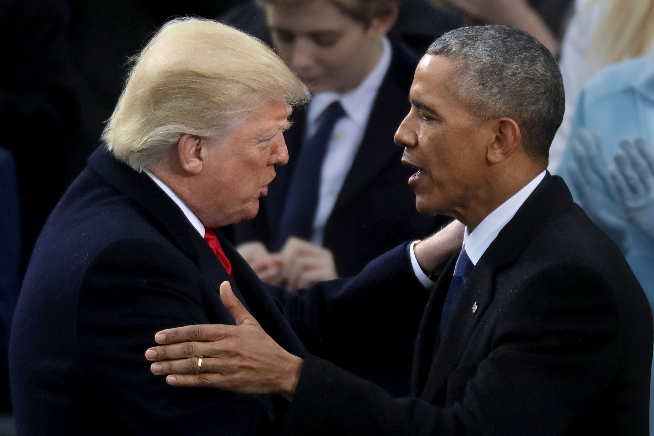 Obama and Trump inauguration