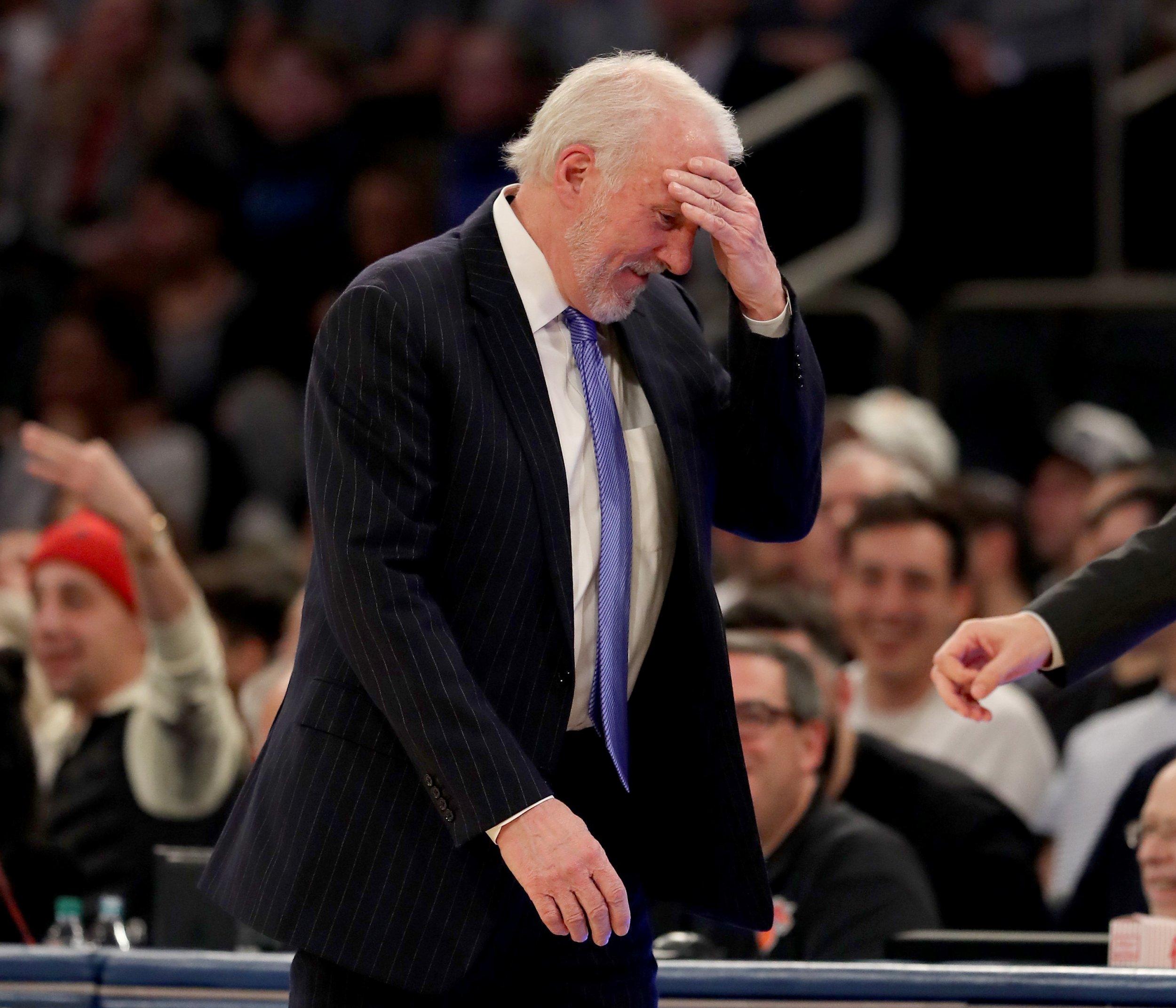 San Antonio Spurs head coach Gregg Popovich.