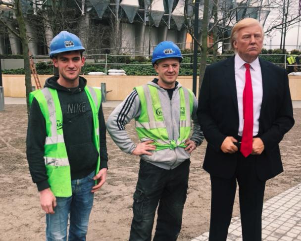 Trump embassy wax figure