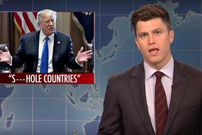 """'SNL' rips Trump over """"shithole countries"""" and Stormy Daniels"""