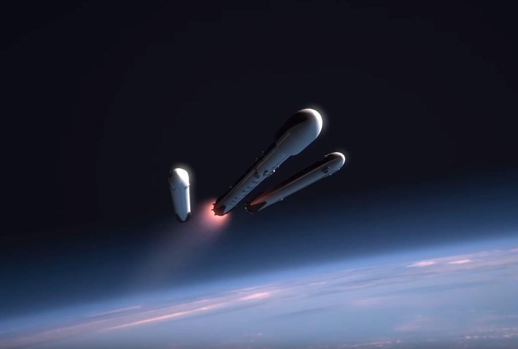 watch spacex falcon heavy rocket test
